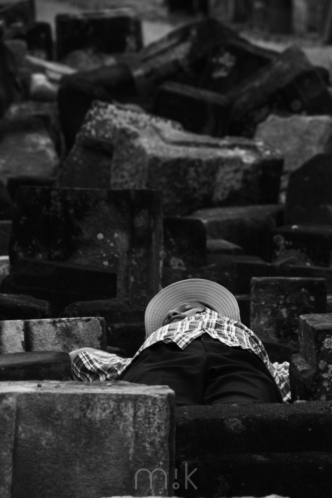 Asleep on the Temple - Prambanan, Indonesia